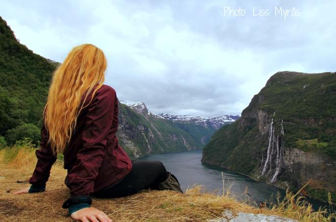skageflå mountain farm geiranger fjord view visit norway landscape photo liss myrås selfie