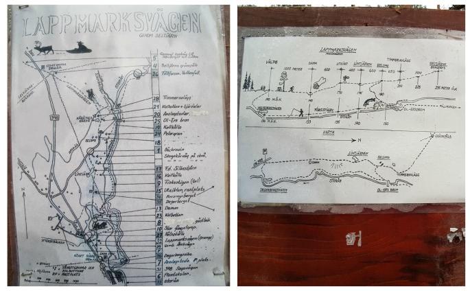 Lappmarksvagen map karta trail vandringsled bredbyn kubbe sweden