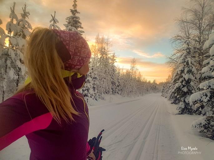 skiløype cross country track winter wonderland norrland örnsköldsvik