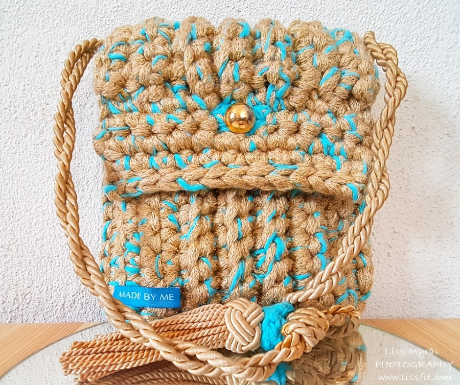 crochet luxurious second handf purse