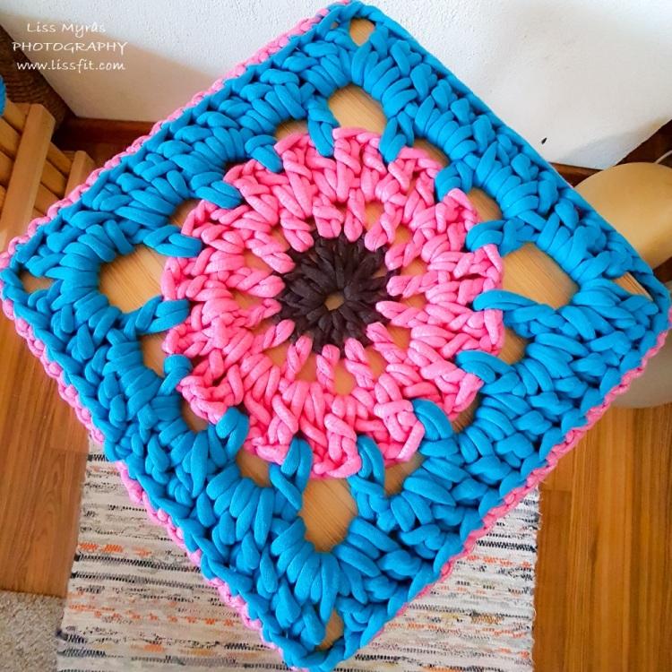 handmade stool cover crochet