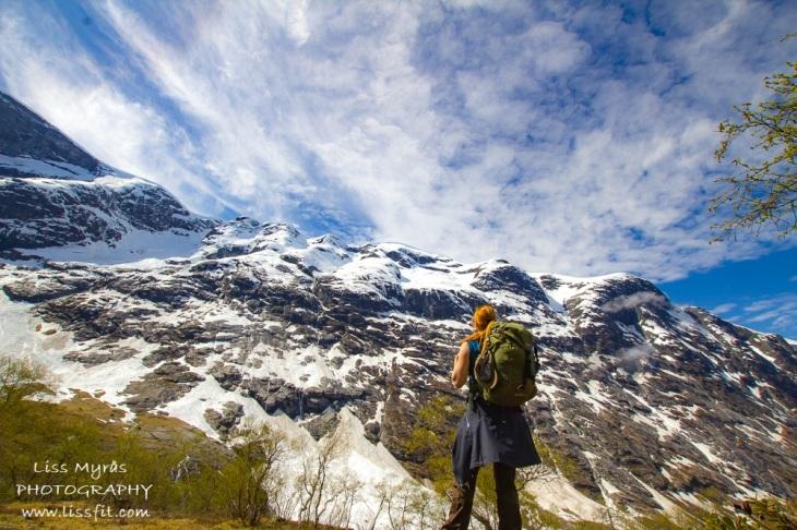 Erdalen Jostedalsbreen mountain hike view