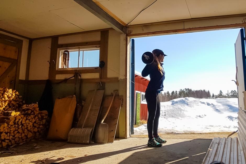 utomhusträning outdoor gym workout squats basics deadlifts spring mindfullness run