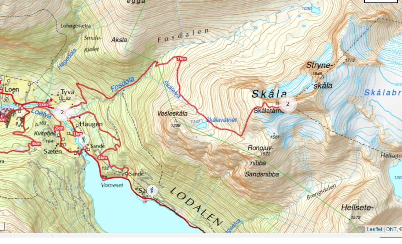 map kart skaala hike skalatarnet skalabu loen
