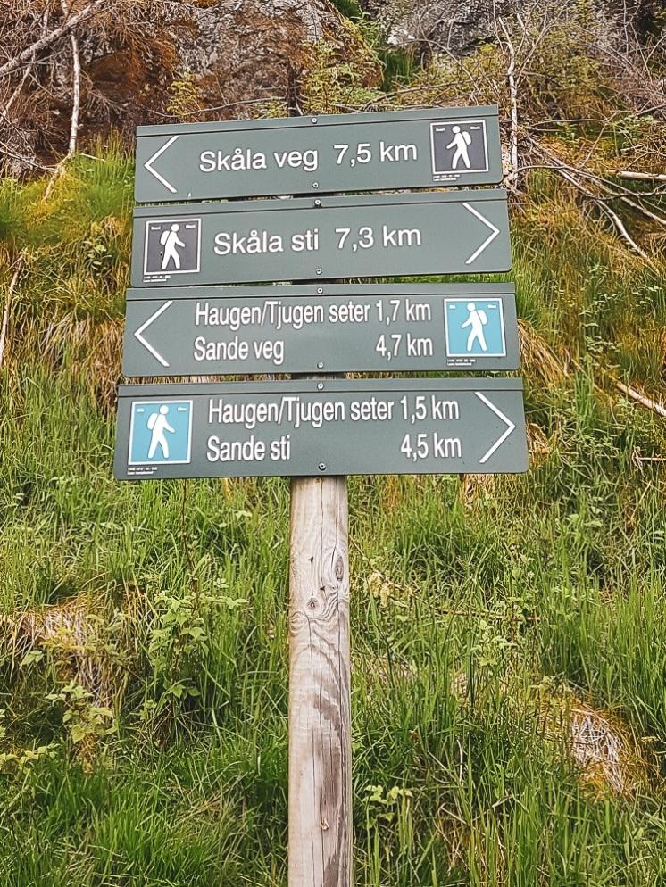 sign post skilt skåla fjelltur topptur trail loen summit hike