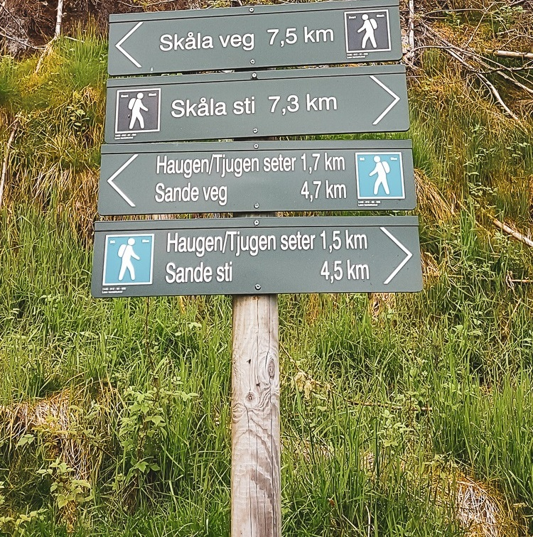 sign post skilt skåla fjelltur topptur trail loen summit hike