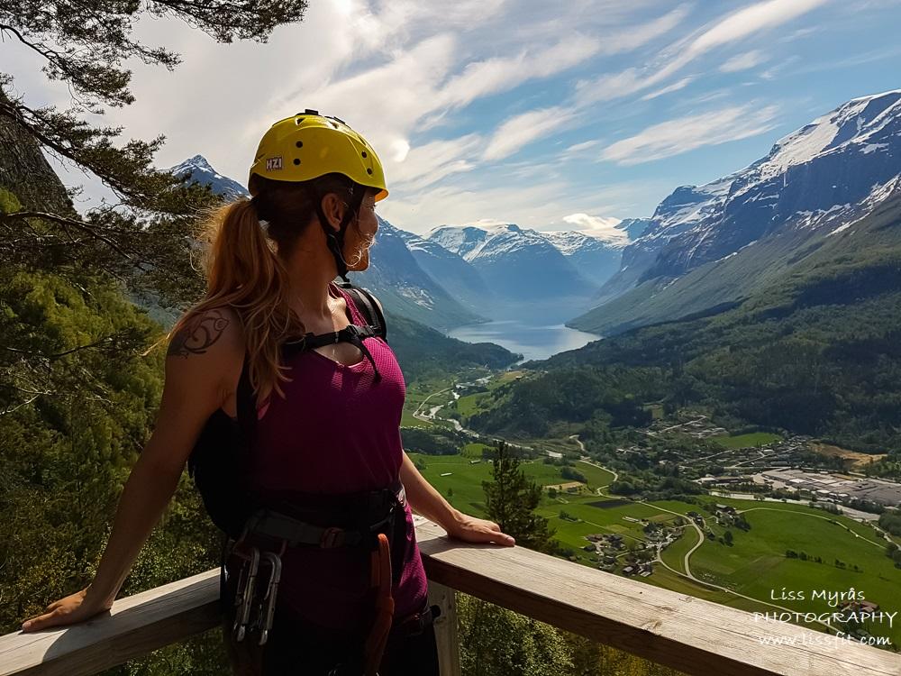 Loen via ferrata norway climb