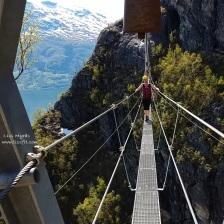 via ferrata loen bridge climb