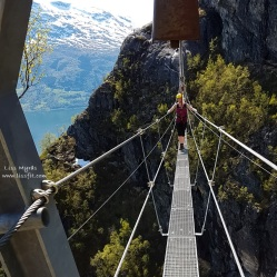 via ferrata loen bridge climb
