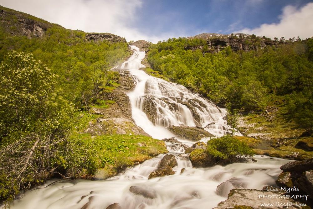 Tverrelvfossen waterfall foss stryn sunndalssetra sunndalen landscape turjenter hike