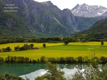 Åndalsnes landscape mountains farms Rauma river Romsdal