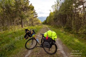 Leaving Dombås on Dovre bicycle route