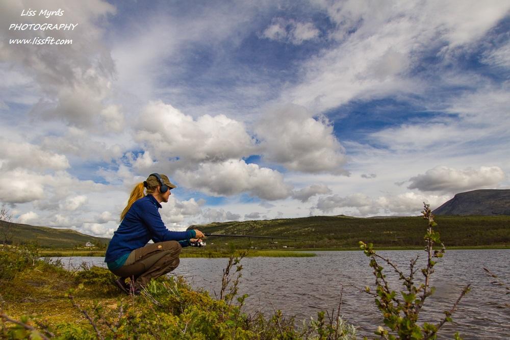 Dovre fishing Vålåsjøen lake Dovrefjell mountains landscape
