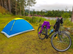 hjelten bru camping alvdal norway bicycle trip travel