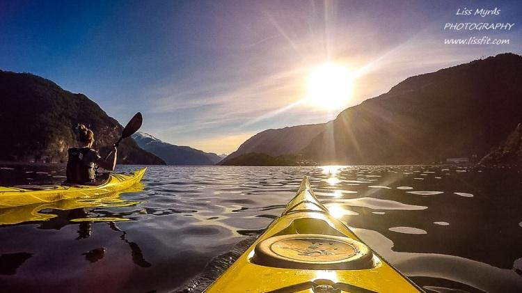 tafjorden kayak kayaking paddling sea kajakk outdoor activity valldal