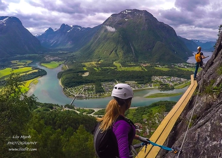Morning climb Via Ferrata Romsdalsstigen