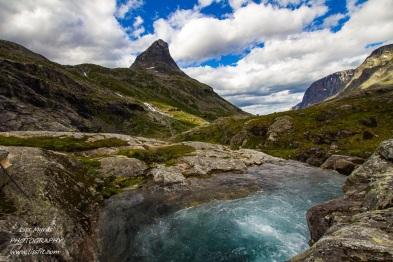 Trollstigen Romsdal Bispen Trollveggen mountain landscape Norway