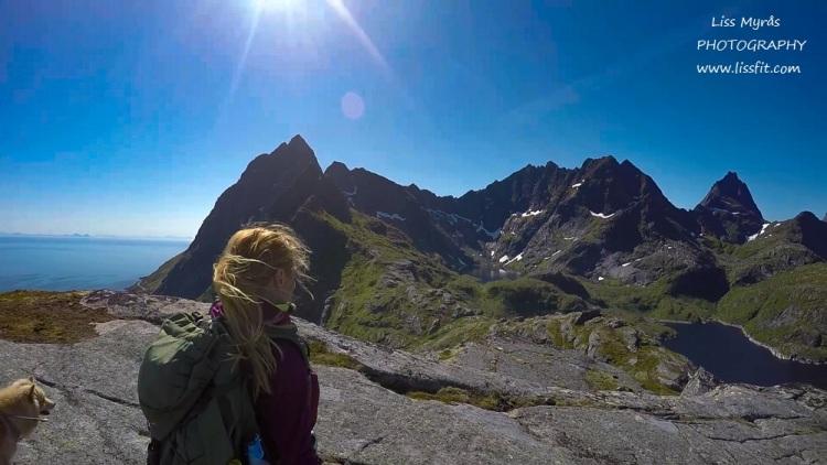 Lofoten hike lake mountains panorama easy trail trout