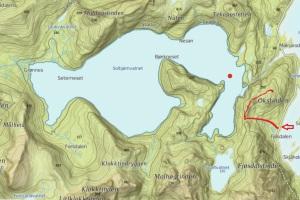 hike solbjornvatnet okstinden flakstad moskenes lofoten map kart