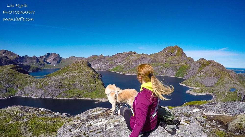 solbjørnvatnet lake moskenes flakstad Reine Fjøsdalen hiking trail fjelltur