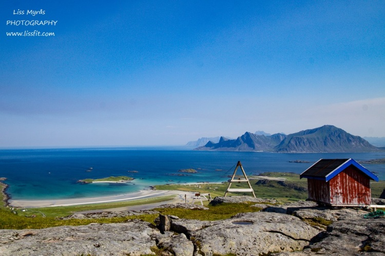 Ryten fredvang Yttersand beach cabin hiking lofoten