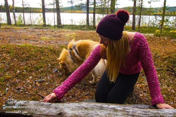 crochet sweater cropped ribbed pink white stitches handmade finsk lapphund