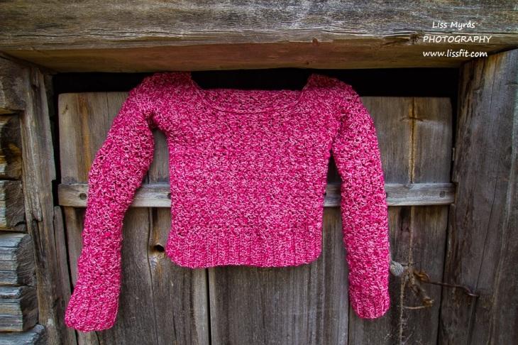 crochet sweater handmade yarn rib marble hook