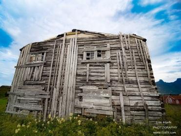 yttersand old barn building fredvang lofoten