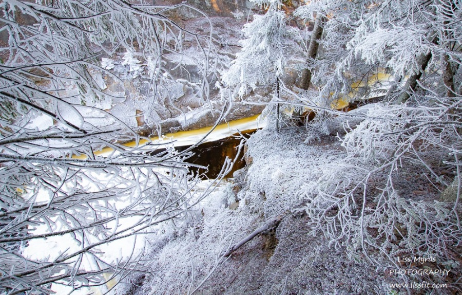 White frost river