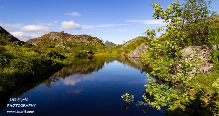 Hike tindstinden lake nature landscape