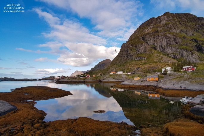 Tindstinden lofoten fishing village