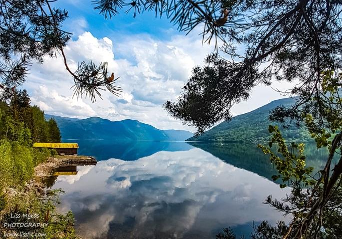 Tinn Telemark lake boat house tinnsjo Tinnlandscape nature