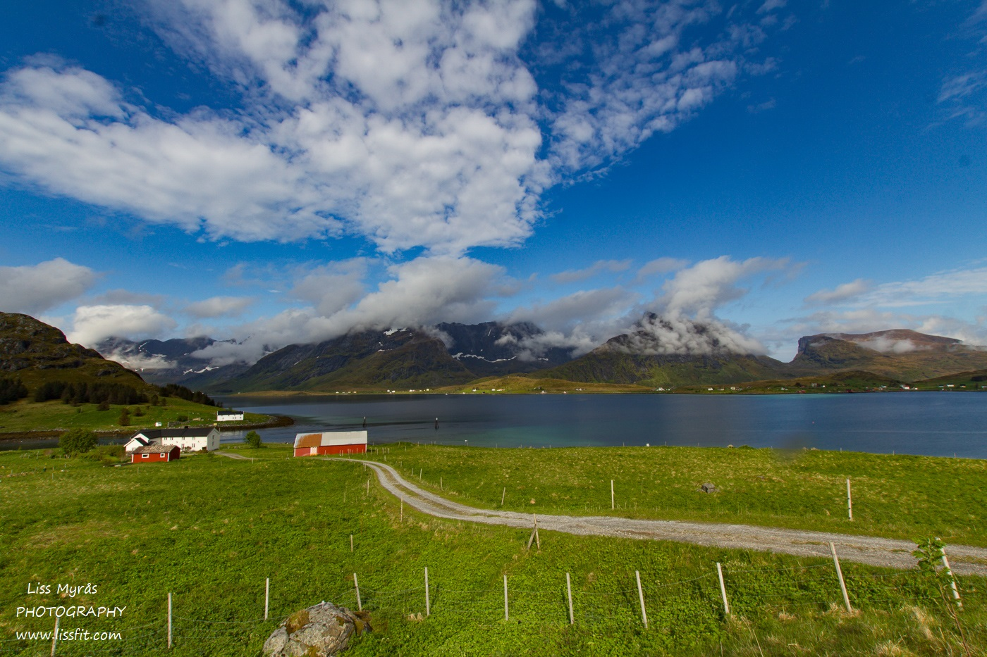 Lofoten landscape farm mountains fjords beautiful norway