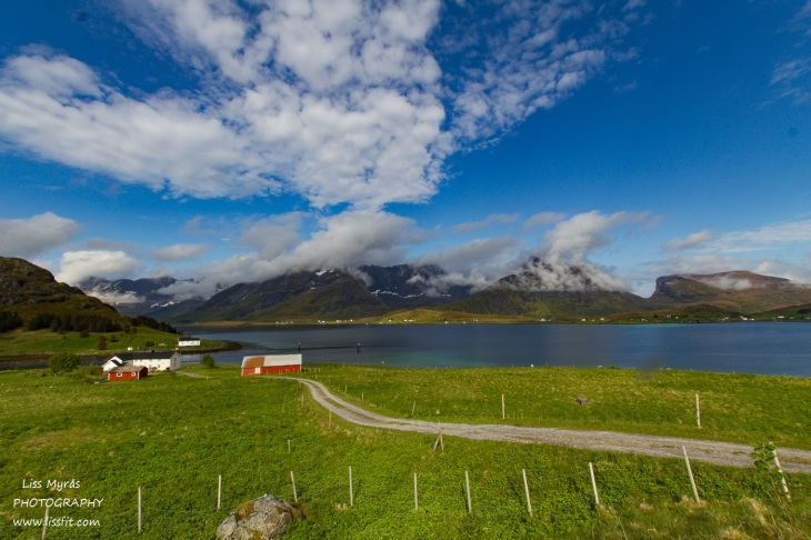 Lofoten landscape farm mountains fjords beautiful norway