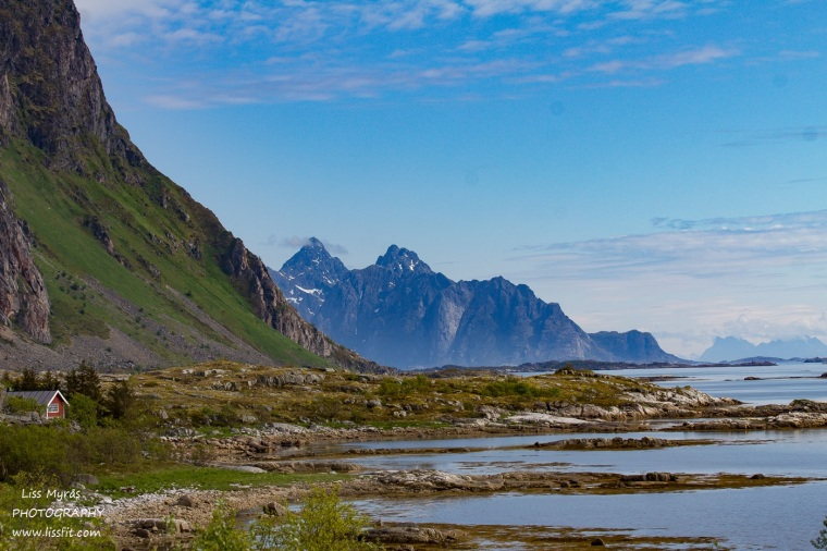Lofoten rorbu landscape fjords steep mountains fjords beautiful norway