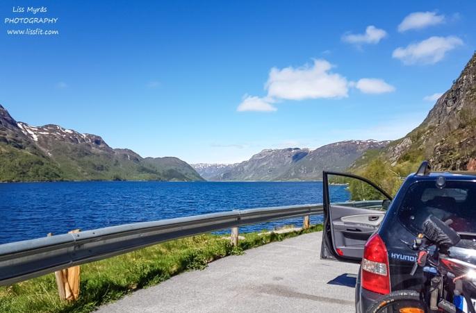 Totak lake Telemark Vinje roadtrip