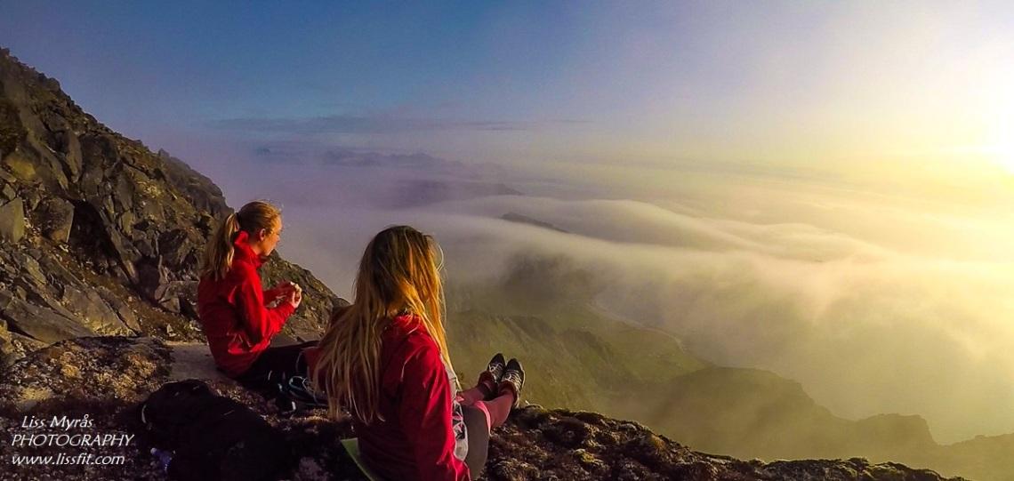 Himmeltindan sunset hike visit Norway