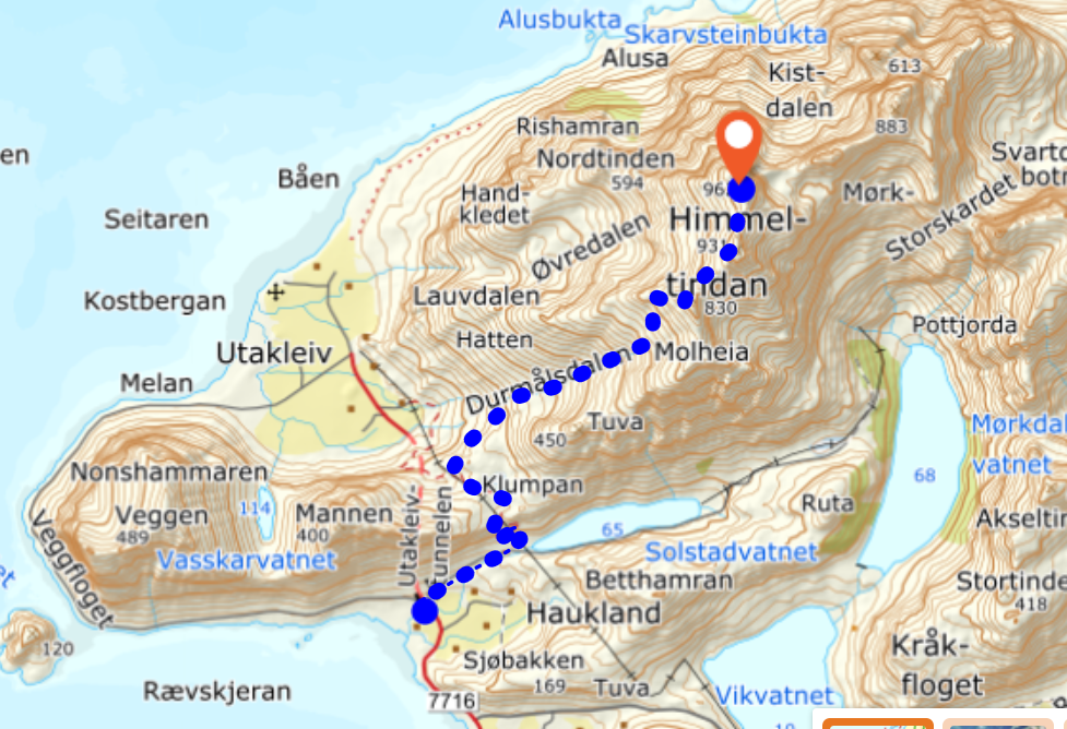 Himmeltindan map kart
