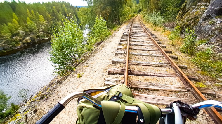 Numedalsbanen railway bicycle numedal line